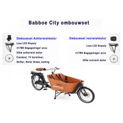 Babboe city bakfiets ombouwen tot een elektrische bakfiets