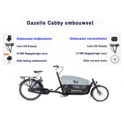 Gazelle cabby bakfiets ombouwen tot een elektrische bakfiets
