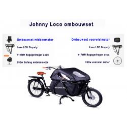 Johnny Loco Tweewieler bakfiets ombouwen tot een elektrische bakfiets