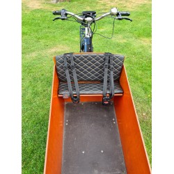 Bakfiets kussens geschikt voor Bakfiets.nl Cargo Bike Capitone big Zwart